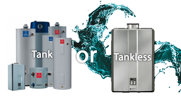 tank vs. tankless water heater